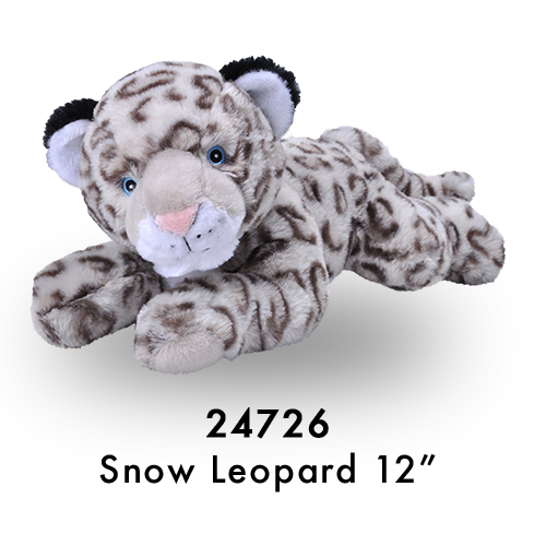 24726 Eco Laying Snow Leopard