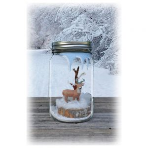Mason Jar Winter Scene