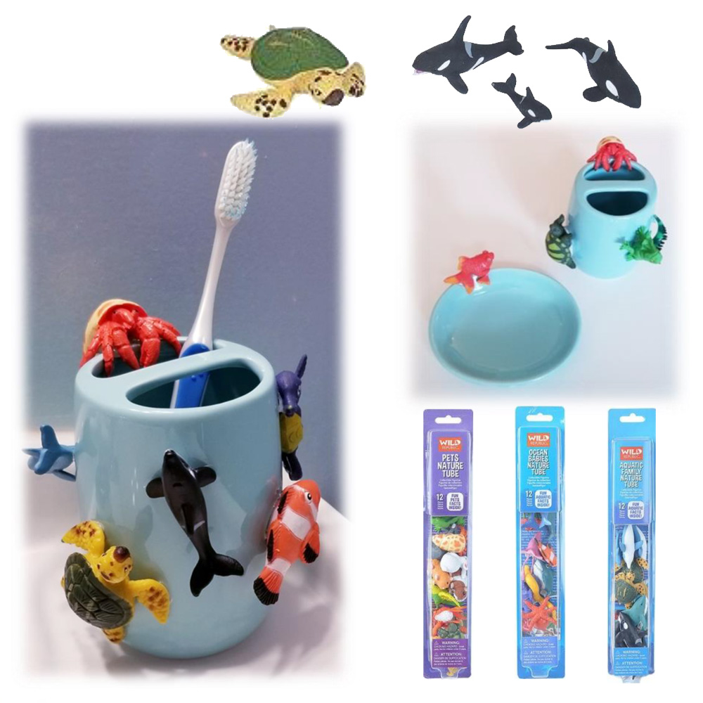 Sea Life Tooth Brush and Soap Dish Holder